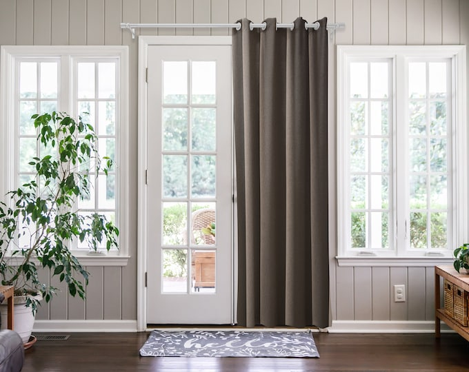 Mink Solid,Door Curtain 2 panel sets,Room Divider,Space Divider,Extra Long Door Curtain,Custom Order,Thermal insulated,Noise reducing