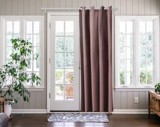 Pink  Solid,Door Curtain 2 panel sets,Room Divider,Space Divider,Extra Long Door Curtain,Custom Order,Thermal insulated,Noise reducing