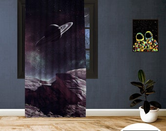 Space-X-XVIII,Window Curtain 1 panel set,Blackout,Room darkering,Custom size,Made to order,Thermal insulated,Noise reducing