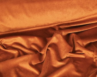 Brunt Orange Luxury Velvet Fabric by the Yard,Velvet Fabric, Velvet Yardage, Per Yard, Fabric Per Yard,Velvet Upholstery,Non Stretch Velvet