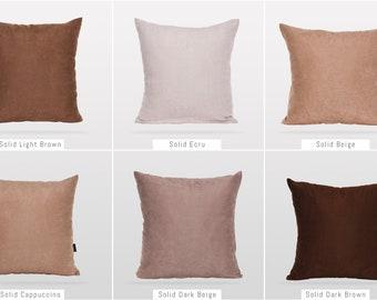 Solid Earth Colors,Pillow Cover,Luxury Sofa Cushion,Modern Sofa,Kissenbezug,Cushion,Outdoor Pillow,Throw Cushions,Solid colors Pillow cover
