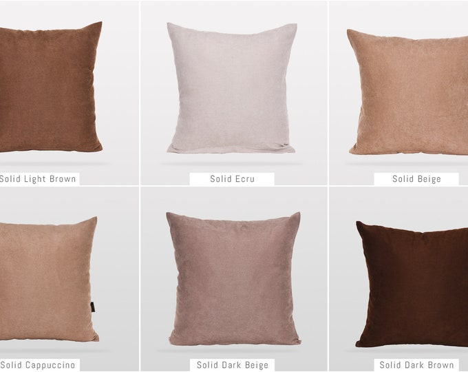 Solid Earth Colors,Pillow Cover,Luxury Sofa Cushion,Modern Sofa,Kissenbezug,Cushion,Outdoor Pillow,Throw Cushions,Solid colors Pillow cover