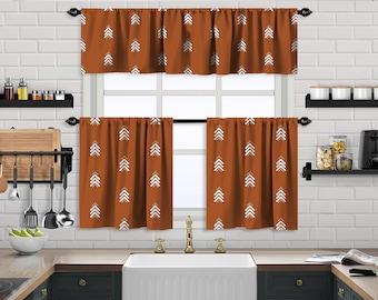 Brick Boho Curtain,African Mud,Window Valance Treatments,Blackout,Sheer,Decorative,Valances Tiers Cafe Curtains,Custom Window Curtain