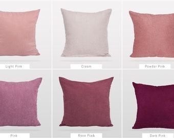 Solid Pink Colors,Pillow Cover,Luxury Sofa Cushion,Modern Sofa,Kissenbezug,Cushion,Outdoor Pillow,Throw Cushions,Solid colors Pillow cover