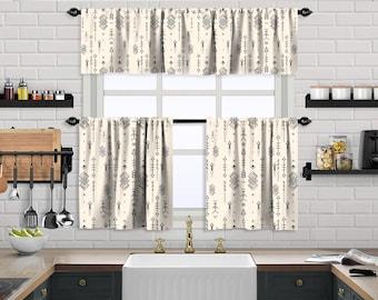 Ecru Boho Curtain,African Mud,Window Valance Treatments,Blackout,Sheer,Decorative,Valances Tiers Cafe Curtains,Custom Window Curtain