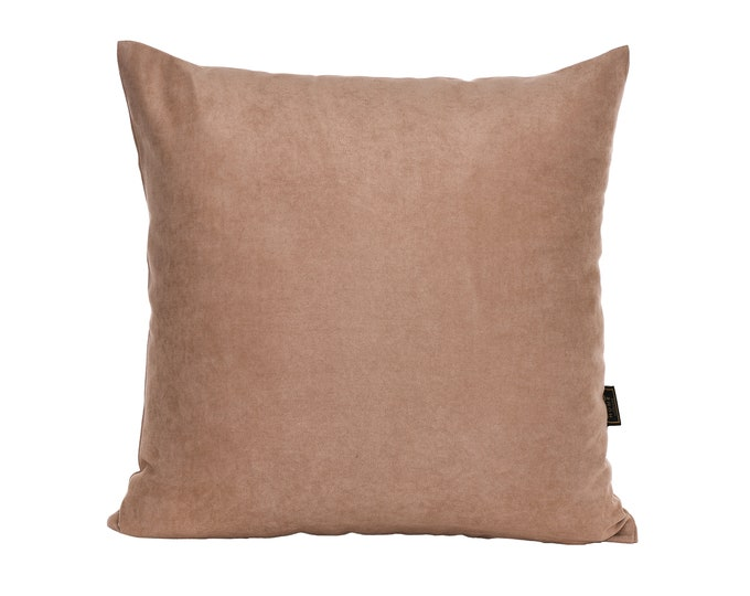 Solid Cappuccino Pillow Cover,Luxury Sofa Cushion,Modern Sofa Cushion,Outdoor Pillow,Throw Cushions, solid color pillow cover