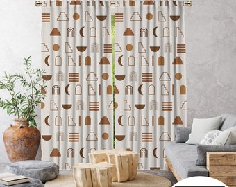 Boho Curtain,African Mud Cloth,Window Treatments,Blackout,Home Decor,Living Room,Room Darkering,Custom Size,Made to order,Digital Printed