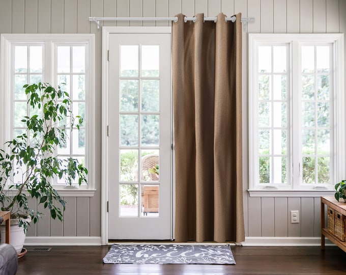 Dark Beige Solid,Door Curtain 2 panel sets,Room Divider,Space Divider,Extra Long Door Curtain,Custom Order,Thermal insulated,Noise reducing