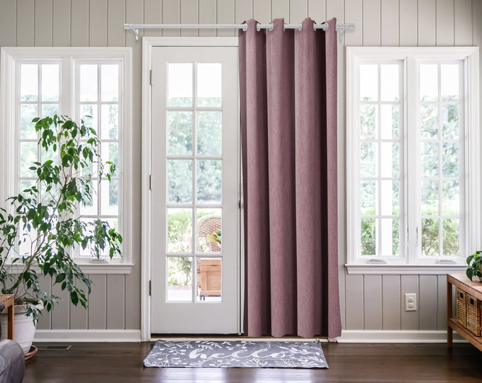 Rose Pink  Solid,Door Curtain 2 panel sets,Room Divider,Space Divider,Extra Long Door Curtain,Custom Order,Thermal insulated,Noise reducing