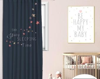 Kids room,Nursery room,Window Curtain 1 panel,Blackout,Room darkering,Custom size,Made to order, Termal insulited,Noise reducing