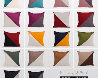 Color Block Pillow Cover,Luxury Sofa Cushion,Modern Sofa,Kissenbezug,Cushion,Outdoor Pillow,Throw Cushions,Geometric Pillow cover,Patch Work