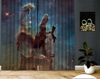 Space-X-XVII,Window Curtain 2 panel sets,Blackout,Room darkering,Custom size,Made to order,Thermal insulated,Noise reducing