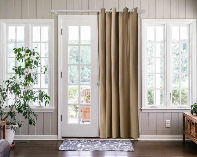 Barley Solid,Door Curtain 2 panel sets,Room Divider,Space Divider,Extra Long Door Curtain,Custom Order,Thermal insulated,Noise reducing