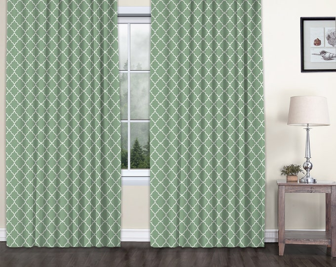 Classic Damask,Chill Green,Window Curtain 2 panels Set,Blackout,Room Darkering,Custom size,Termal insulated,Noise reducing,Window Treatments