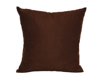 Solid Dark Brown Pillow Cover,Luxury Sofa Cushion,Modern Sofa Cushion,Outdoor Pillow,Throw Cushions, solid color pillow cover