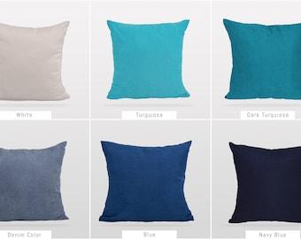 Solid Blue Colors,Pillow Cover,Luxury Sofa Cushion,Velvet look,Modern Sofa,Kissenbezug,Cushion,Outdoor Pillow,Throw Cushions,Solid colors