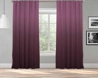 Purplish  Ombre Curtain Panel,Shades Ombre,Gradient Multicolor,Custom Size,Made To Order,Extra Long Size,Boho Dip Dye Curtain,Digital Ombre