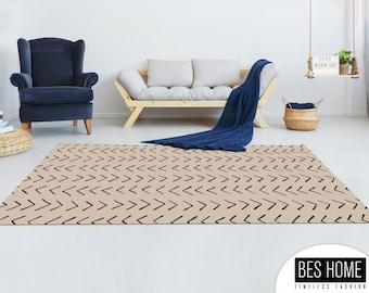Boho Rug,African Mud Design,Digital Printed Carpet,Digital Printed Rug,Decorative,Home Decor,Living Room,Custom Size,Made to order,Office