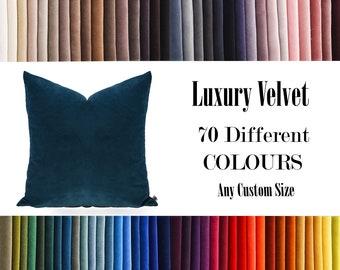 Navy Blue,Luxury Velvet Throw Pillow,70  Colours Velvet Pillow Cover, Decorative Velvet Pillow, Velvet Cushion Case, Velvet Pillows