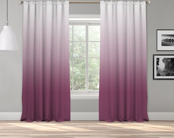Rose Pink Ombre Curtain Panel,Shades Ombre,Gradient Multicolor,Custom Size,Made To Order,Extra Long Size,Boho Dip Dye Curtain,Digital Ombre