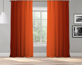 Burnt Orange Ombre Curtain Panel,Shade Symmetrical Ombre Custom Sized,Made to Order,Extra Long Curtain,Boho Dip Dye Curtain,Digital Ombre