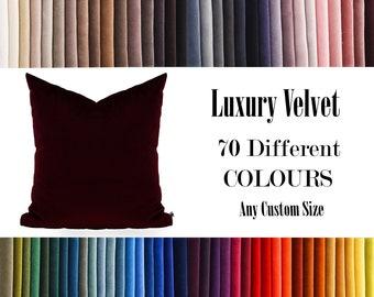 Brown Luxury Velvet Throw Pillow,70  Colours Velvet Pillow Cover, Decorative Velvet Pillow, Velvet Cushion Case, Velvet Pillows,Custom size