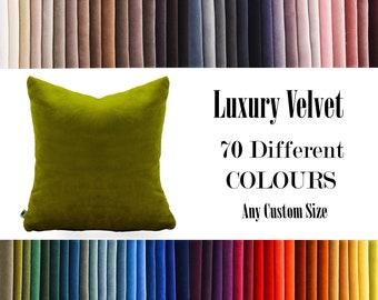 Green Luxury Velvet Throw Pillow,70  Colours Velvet Pillow Cover, Decorative Velvet Pillow, Velvet Cushion Case, Velvet Pillows,Custom size
