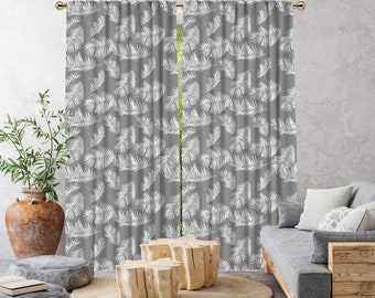 Grey Boho Curtain,African Mud,Extra Long,Blackout,Sheer,Decorative,Home Decor,Living Room,Room,Custom Size,Made to order