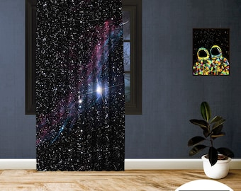 Space-X-XIII,Window Curtain 1 panel set,Blackout,Room darkering,Custom size,Made to order,Thermal insulated,Noise reducing