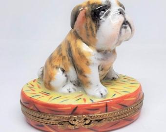 Vintage Bulldog  Limoges Box Limited Edition