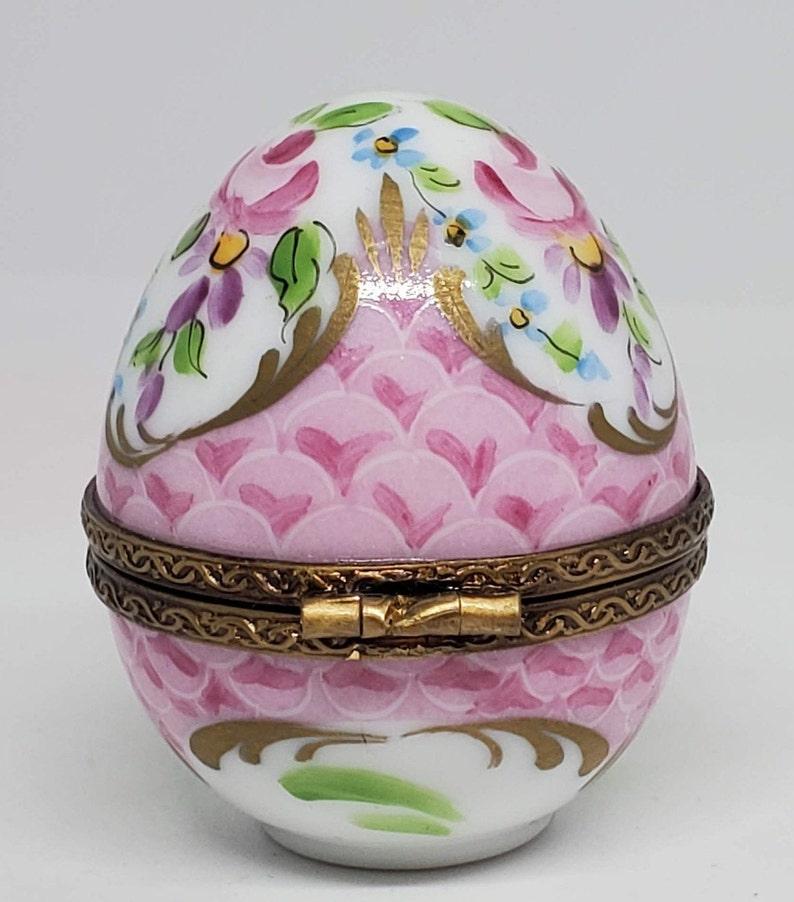 Pink Egg  Limoges Box