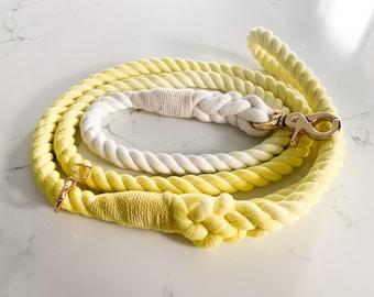 Ray of Sunshine Yellow Rope Leash, yellow rope leash, pet rope leash, summer rope leash, dog rope leash