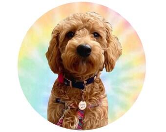 Tie Dye Profile Picture, Pet Profile Picture, Custom Profile Picture, Summer Profile Picture