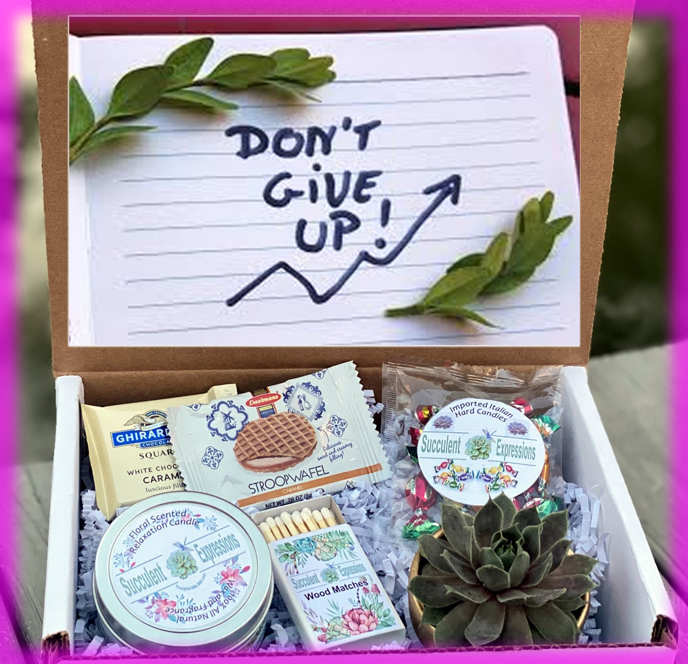 You Can Do It Gift Box , Dream Big Gift, Birthday Gift For Best Friend,  Birthday Gift For Her, Birthday Gift, Live Succulent gift box