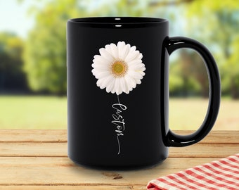 Daisy Coffee Mugs Etsy