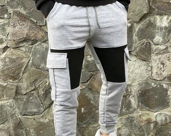 GLOW in the DARK BLUE Pants jogger style drop crotch punk industrial rave