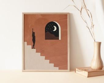 Surreal Abstract Print, Digital Prints, Contemporary Art, Abstract Wall Art, Wall Decor,Abstract Art,Mid Century Modern Wall Art, Boho art