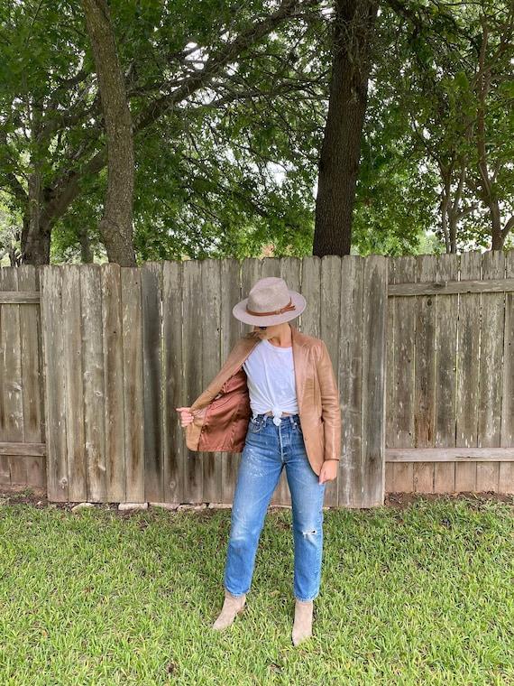 Vintage Women's Leather Blazer