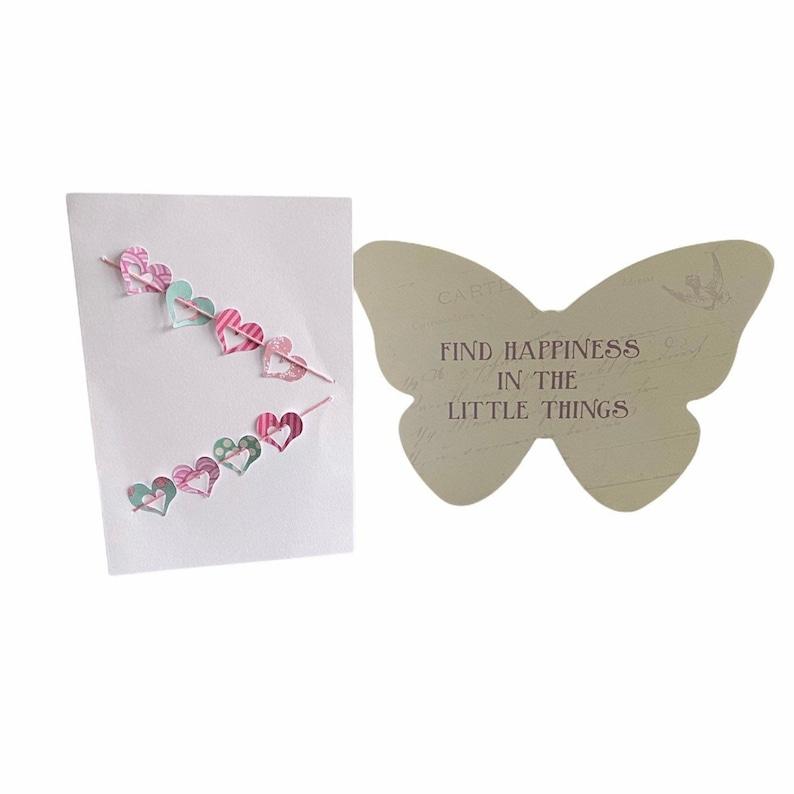 card making kit DIY card Heart bunting