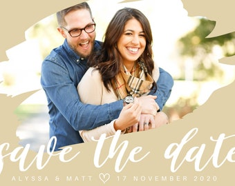 Save the Date Template, Customizable Save the Date, Save the Date Postcard, Print at Home, Downloadable, Personalized Save the Date
