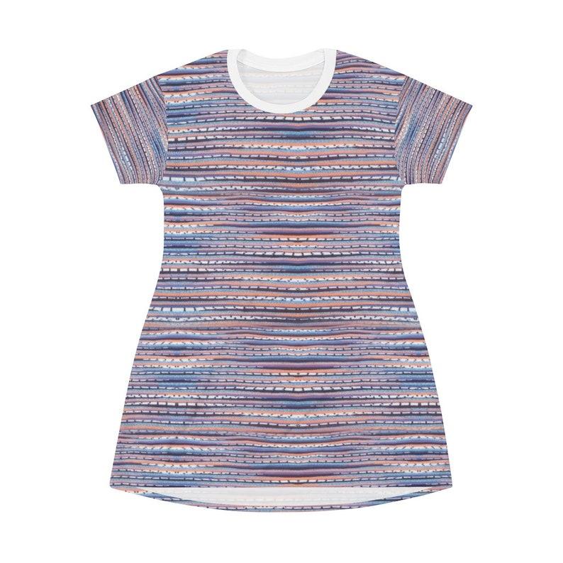 comfortable vintage All Over Print T-Shirt Dress