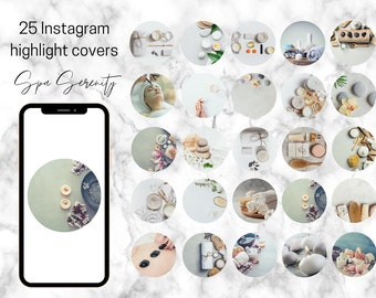 25 Spa, Beauty, Instagram Highlight stories Icons, Instagram Highlight Covers, Instagram Icons, Instagram, Highlight Icons
