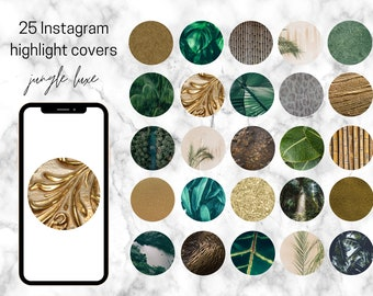 25 Jungle Luxe Themed Instagram Highlight Covers