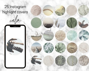 """25 Themed Instagram Highlight Covers - """"Calm"""""""