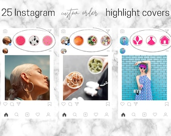 Custom Instagram Covers Highlight Icons   Personalised to your own Instagram Theme   Icons   Photographic