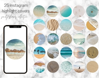 25 Sandy Shores Themed Instagram Highlight Covers