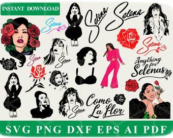 Como la flor Quintanilla two Roses Selena Selenas glitter banner