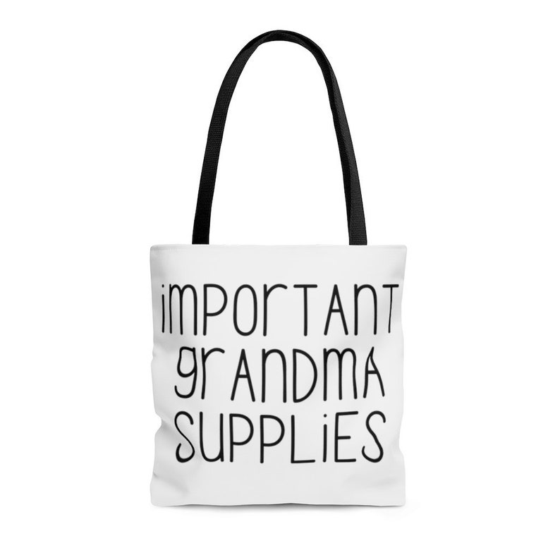 Best Grandma Ever Important Grandma Supplies Tote Bag Nana Mother/'s Day Gift Funny Gift For Mom Babysitting Purse Gram