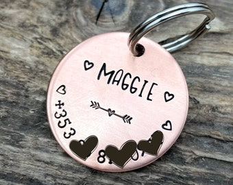 Dog tag with phone number, girl dog tag