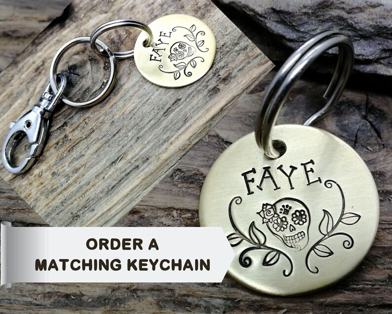 Matching keychain dog tag add to your order image 1